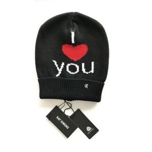 RAF Simons I Love You Luxe Beanie Hat NWT